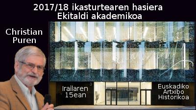 2017/18 ikasturtearen hasiera euskaltegietan: ekitaldi akademikoa