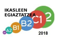 Argitaratu dira 2018ko lehen deialdiko B2, C1 eta C2ko idazmeneko behin-behineko emaitzak
