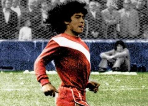 Maradona futbolariaren lehen partida