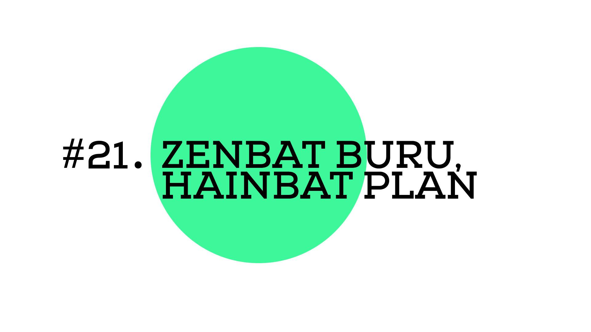 Zenbat buru, hainbat plan (A1E21)