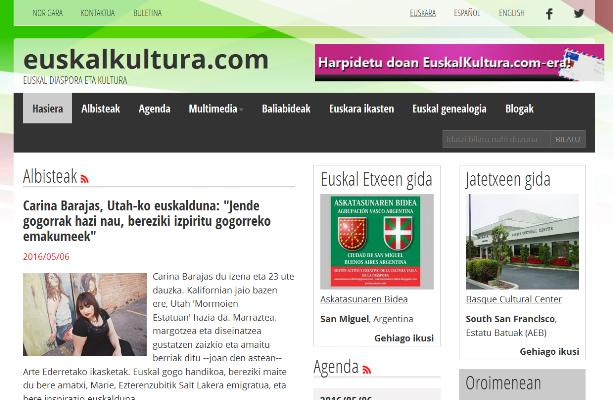Joseba Etxarri: Euskal Herrian ez dugu diaspora ondo ezagutzen