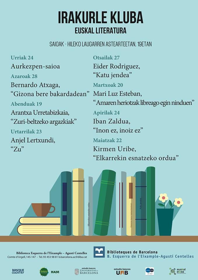 Euskal Irakurle Kluba Bartzelonako liburutegien sarean